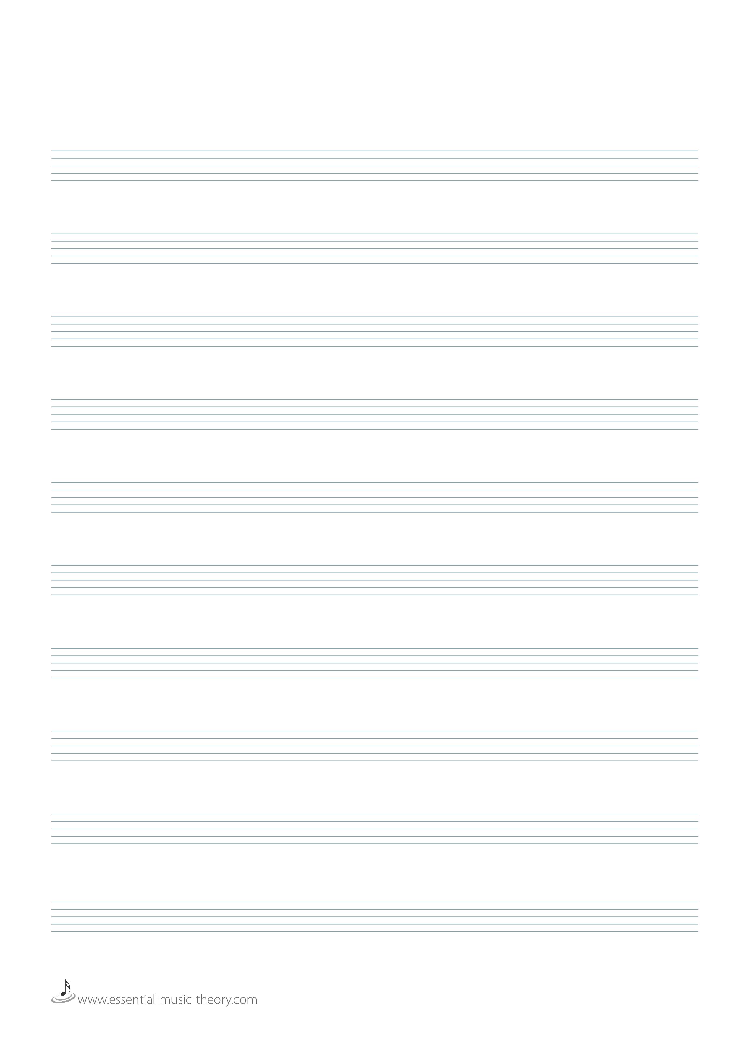 Blank Manuscript Paper