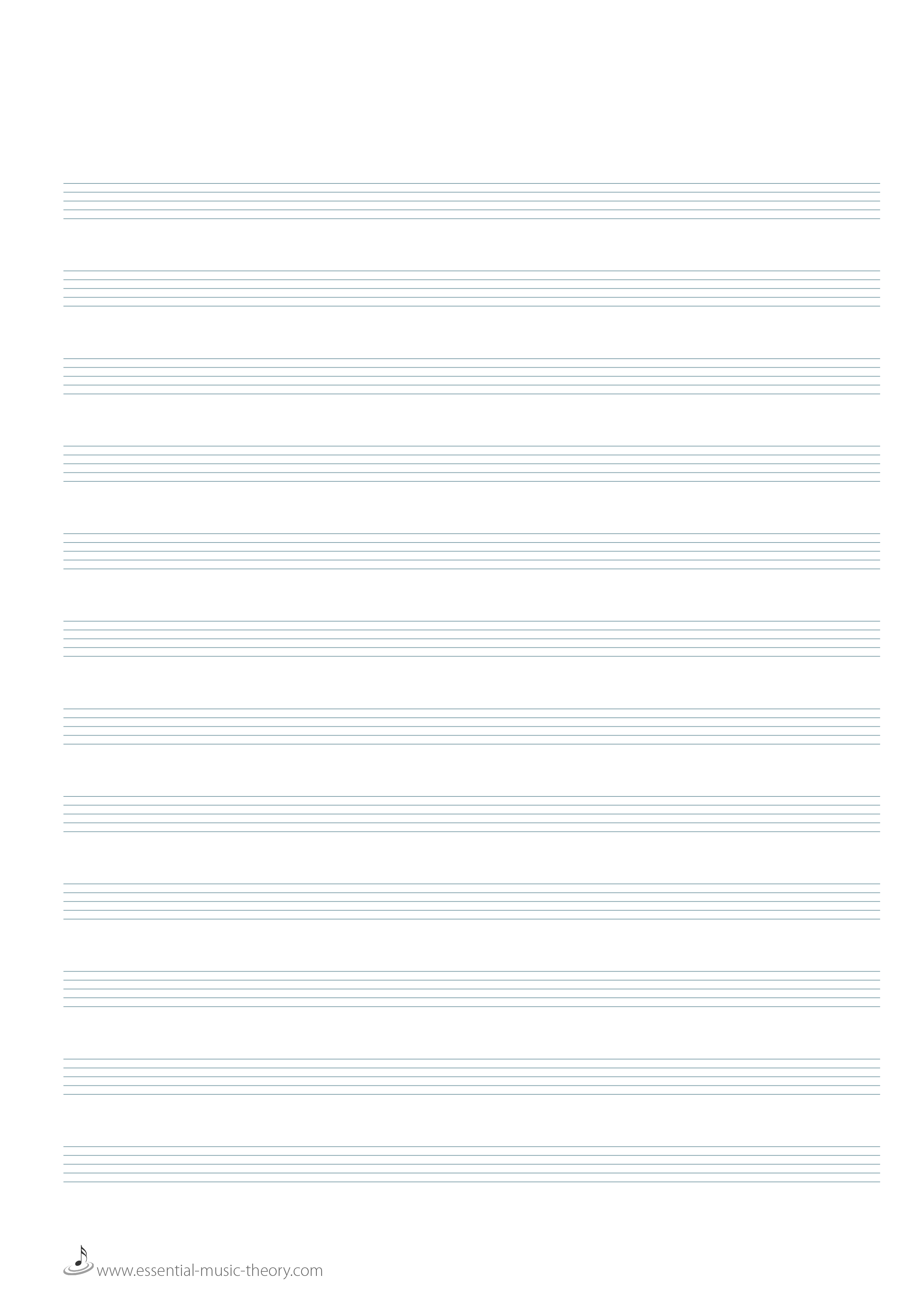 Blank Manuscript Paper – Blank Sheet of Paper with Lines
