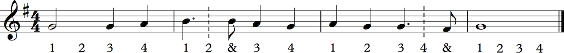 how to count dotted notes