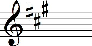 key signature of a major