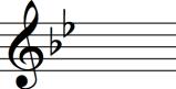 key signature of B flat major