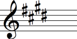 E major key signature