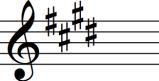 E major key signature