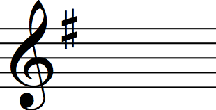 key signature g major
