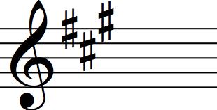 key signature of a major