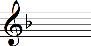key signature f major