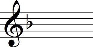 key signature f major