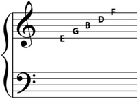 notes on the lines of the g clef